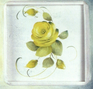 Roses and Blueberries Plaque small