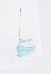 Sailboat Watercolor Card Fi 1
