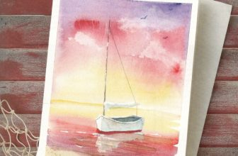 Sailboat Watercolor Card