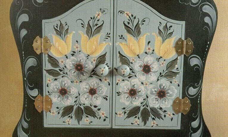 Hallingdal Flowers Key Box