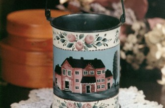 Floral Tin Container