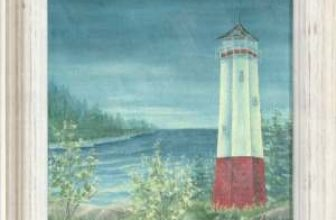 Evening Showers… Lighthouse Canvas
