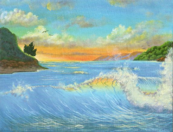 How to draw Turquoise Ocean painting